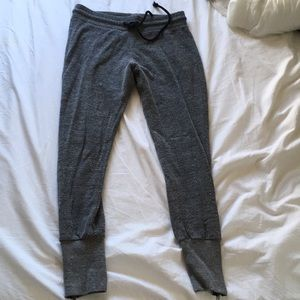 Urban outfitters grey joggers with side zips